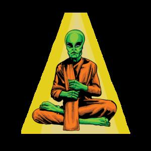 UFO-Yoga-Alien Wissenschaft Geschenkidee