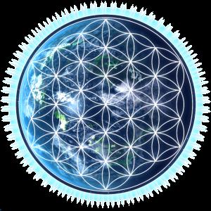 Blume des Lebens, Erde, Yoga, Universum Design