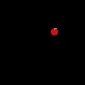 Healty Lama mit einem Apfel