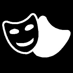 Theater Schauspiel Masken Tragödie und Komödie