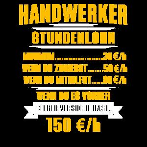 Handwerker Stundenlohn lustig