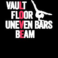 Gewölbe Boden Stufenbarren Beam Gymnastics Gymnast Gi