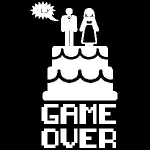 Hochzeit Game Over Geschenk Fest Braut Liebe