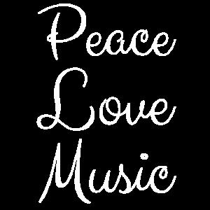 Peace Love Music Frieden Musik Liebe Geschenk