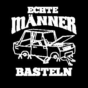 Echte Männer Basteln KFZ Werkstatt Bastler T-Shirt