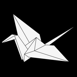 Origami Kranich Frieden Japan Vogel