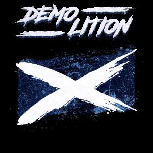 Zerstörung der schottischen Flagge