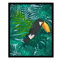 Tropischer und farbiger Tucan Vogel mit   Geschenk