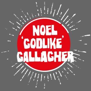 Noel Gallagher 'Godlike' - White on Red