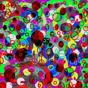 Bunte Kreise Geschenk Abstrakte Kunst
