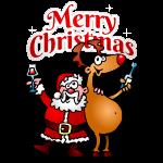 Santa Reindeer txt fc