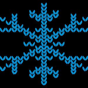 Schneeflocke im Strickmuster