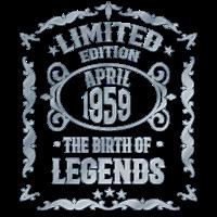 April 1959 Lustiges Geschenk für 60. Geburtstag