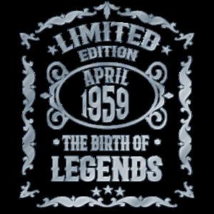 April 1959 Lustiges Geschenk für 61. Geburtstag