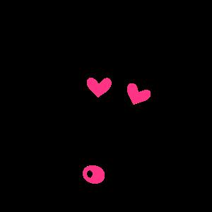 Totenkopf mit Herzen, skull, hearts