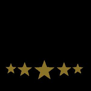 Koch Mütze Chefkoch Küche Fünf Sterne Gold