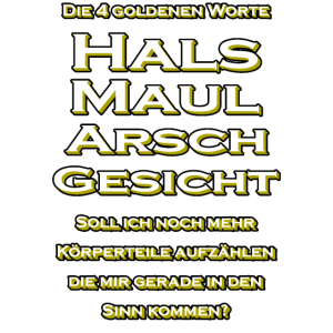 4 Goldene Worte Hals