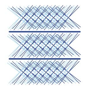 x astratte due colori azzurro