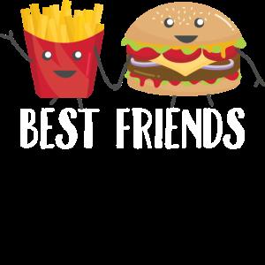 Beste Freunde Burger Pommes Foodie Geschenk