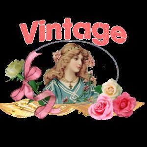 Vintage Frau Retro