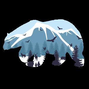 Natur Polarbär Eisbär Braunbär Berge Wald Geschenk