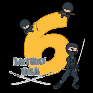Geburtstag 6 Jahre Ninja T-Shirt Sechs