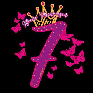 Geburtstag 7 Jahre Prinzessin, Krone T-Shirt