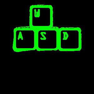 WASD Nerd Gamer Tastatur Shirt