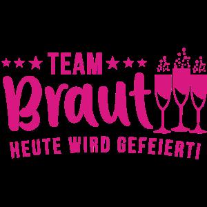 Bridal Shower Team Bride Team Braut Polter Abend