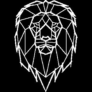 Löwe Geometrisch Geometrie - weiß