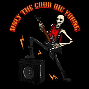 Skelett Rocker Totenkopf Knochen Geschenk