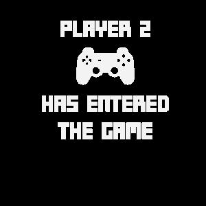 Player 2 Has Entered The Game Baby Geburt Geschenk