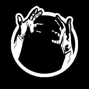 Nimm meine Hand Black Hole Hands Logo