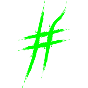 Hashtag Design # Symbol Neu Zuweisung Raute