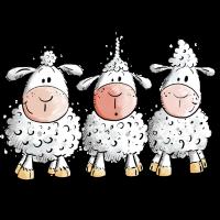 Cooles Schaf TrioI Fun Schafe I Tiermotiv