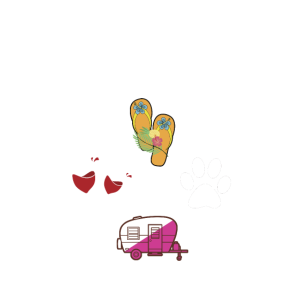 I m A Simple Woman Camping T Shirt Wine Flip Flops