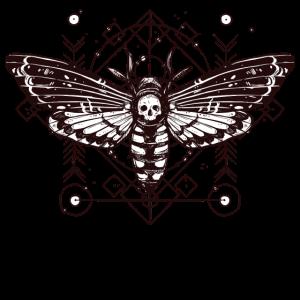 Motte Skull Schaedel Insekt Tattoo Schmetterling B