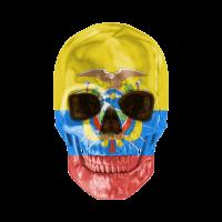 Schädel-Flagge von Ecuador
