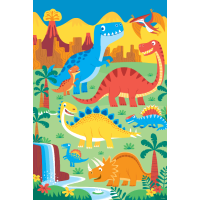 Dinosaurier-Plakat