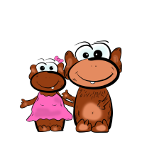 Tasse Affe True Love