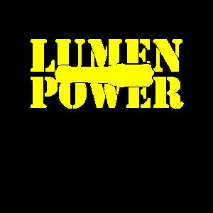 Lumen Power mit Taschenlampe