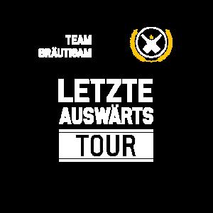 Team Bräutigam Letzte auswärts Tour Geschenk JGA