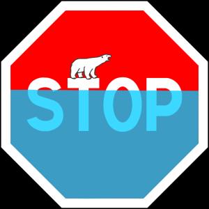 Stop Erderwärmung Eisbär Friday for future