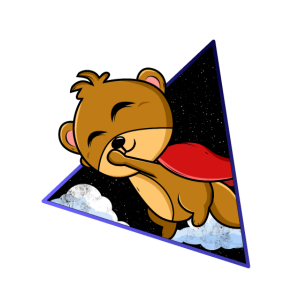 Otter Space Superhero Astronaut Geschenk