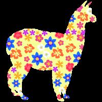 Alpaca Lama Blumen