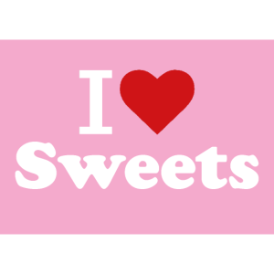Sweets, Süßigkeiten, I Love Sweets.