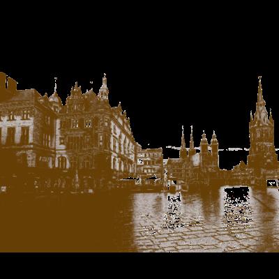Stadt Halle Saale Gemälde - Dieses Design ist eine schöne Geschenkidee für alle die was aus Halle (Saale) suchen. - Stadtstaat,Stadt,Saale,Halle Saale,Halle,Geschenkidee,Geschenk,Bild