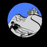 Skiing SGA Blau/Silber