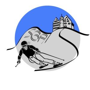 Skiing SGA Blau Silber