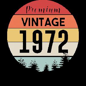 1972 Geboren Geburtstagsgeschenk retro Vintage